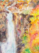 Fall Waterfall, 9x12, $210