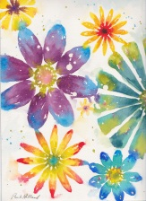 Glass Flowers, 9x12, SALE $175