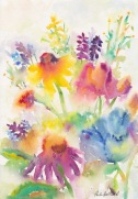 Flowers: Blue, 7x10, $125