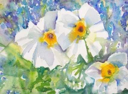 White Flowers, 14x10, $275